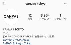 Instagram canvas_tokyo profile